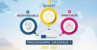 visuel Erasmus + nouveaux programmes 2021-2027